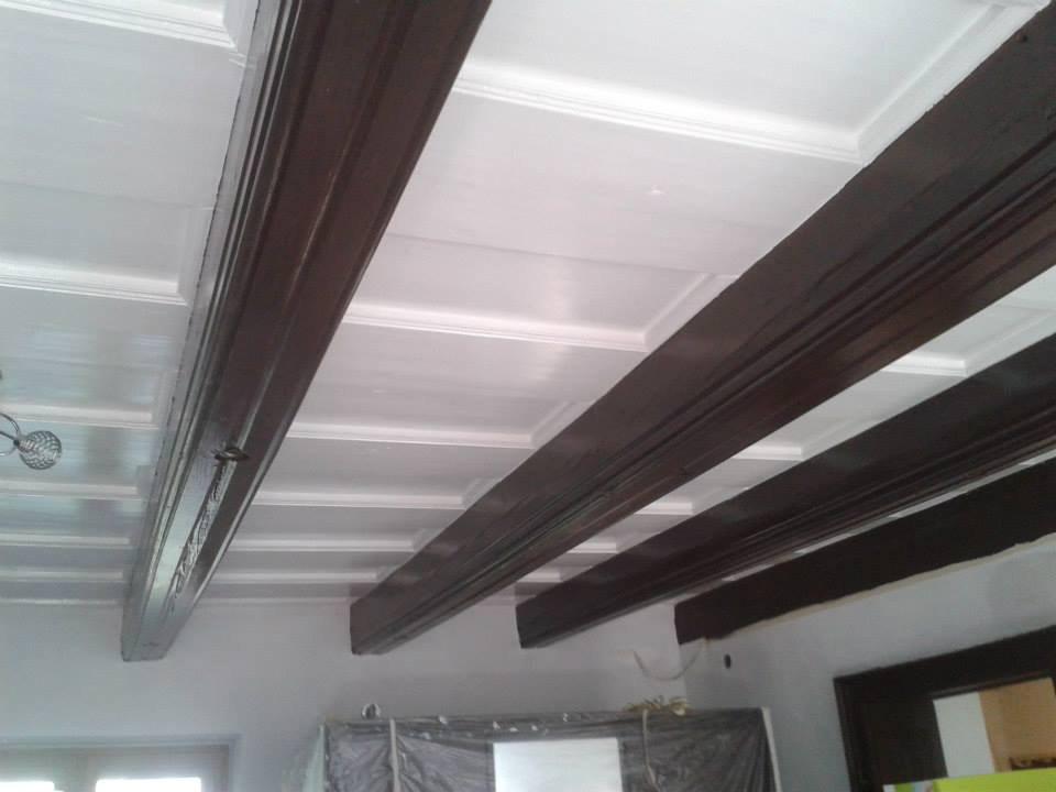 Natěračské práce Krhovice - renovace trámů 1