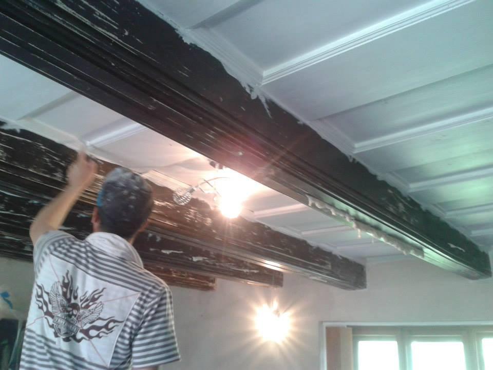Natěračské práce Krhovice - před renovací trámů 5